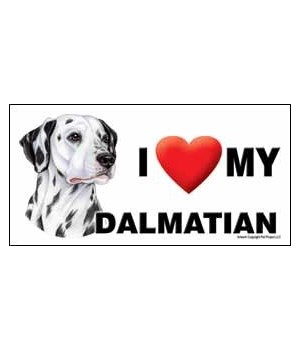 I (heart) my Dalmatian 4x8 Car Magnet