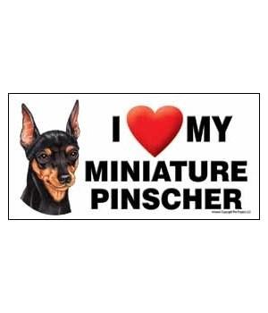 I (heart) my Miniature Pinscher 4x8 Car