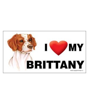 I (heart) my Brittany 4x8 Car Magnet