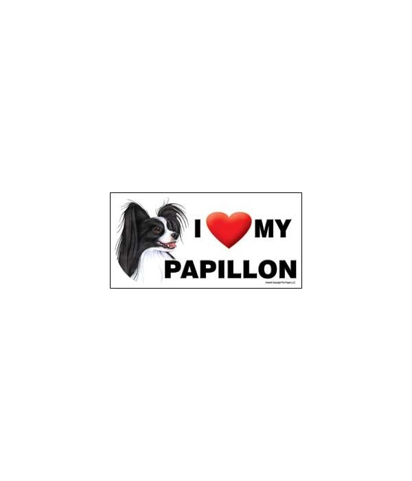I (heart) my Papillon (Black and white)