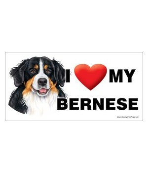 I (heart) my Bernese 4x8 Car Magnet