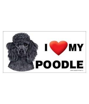 I (heart) my Poodle (Black) 4x8 Car Magn