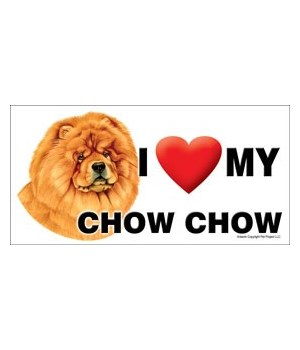 I (heart) my Chow Chow 4x8 Car Magnet