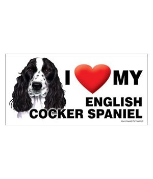 I (heart) my Cocker Spaniel (English, bl