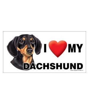 I (heart) my Dachshund (Black and Tan) 4