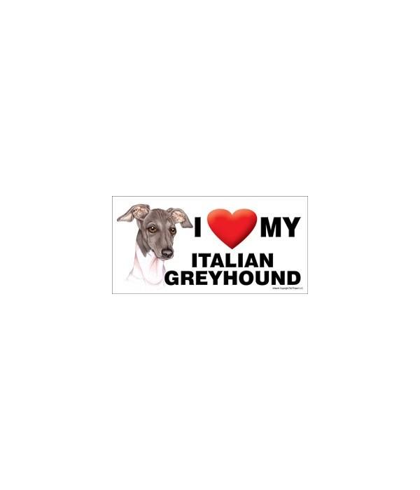 I (heart) my Italian Greyhound (grey and