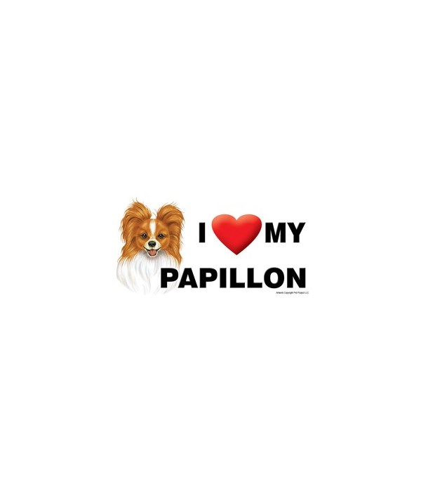 I (heart) my Papillon (Reddish-brown col