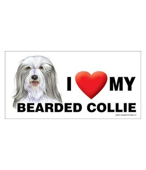 I (heart) my Bearded Collie 4x8 Car Magn