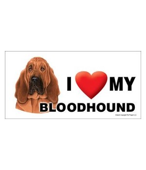 I (heart) my Bloodhound 4x8 Car Magnet