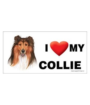 I (heart) my Collie 4x8 Car Magnet