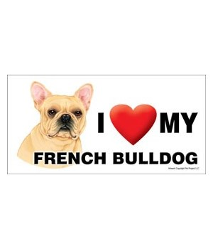 I (heart) my French Bulldog 4x8 Car Magn