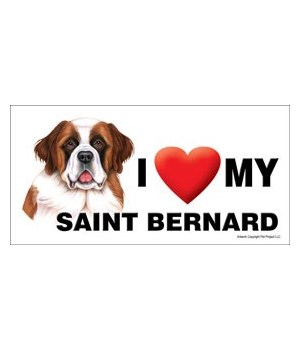 I (heart) my Saint Bernard 4x8 Car Magne