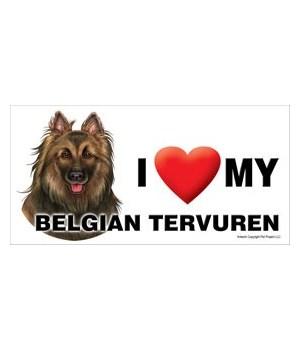 I (heart) my Belgian Tervuren 4x8 Car Ma