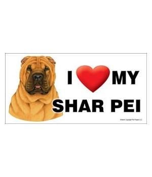 I (heart) my Shar Pei 4x8 Car Magnet