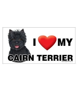 I (heart) my Cairn Terrier (black) 4x8 C