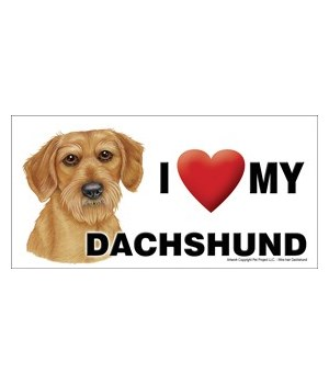 I (heart) my Dachshund (Wire hair) 4x8 C