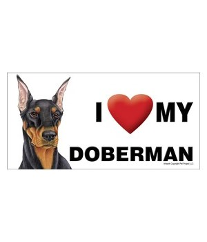 I (heart) my Doberman (Black) 4x8 Car Ma