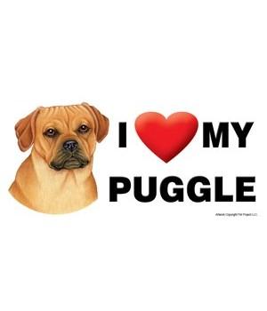 I (heart) my Puggle 4x8 Car Magnet