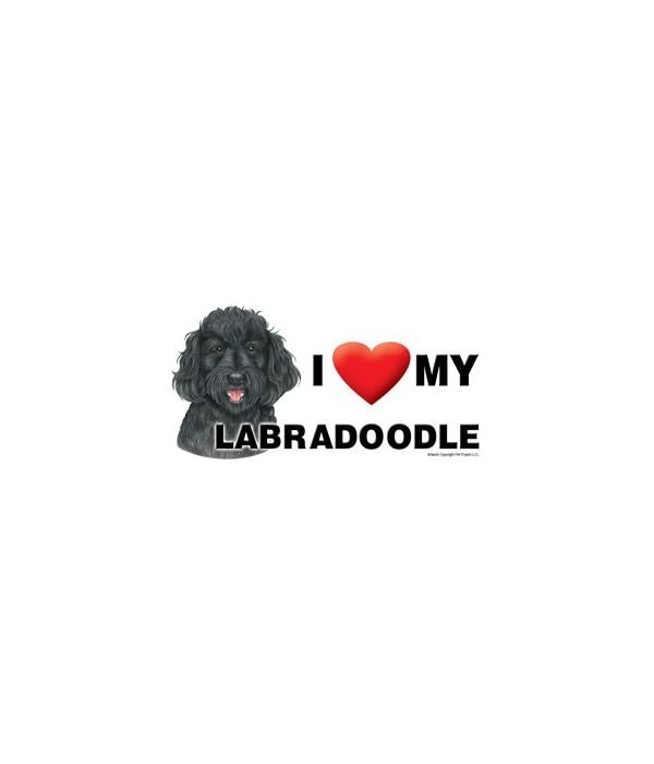 I (heart) my Labradoodle (Black) 4x8 Car