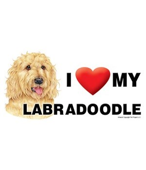 I (heart) my Labradoodle (Blonde) 4x8 Ca