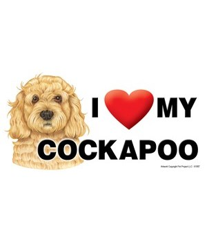 I (heart) my Cockapoo 4x8 Car Magnet
