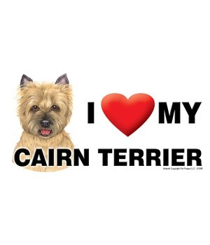 I (heart) my Cairn Terrier (tan) 4x8 Car