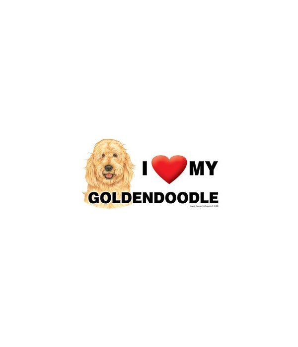 I (heart) my Goldendoodle 4x8 Car Magnet