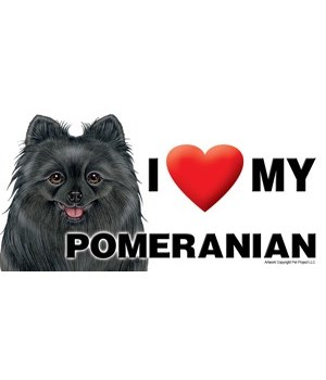 I (heart) my Pomeranian (Black) 4x8 Car