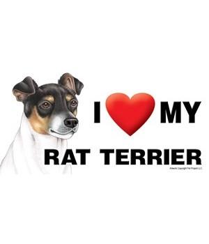 I (heart) my Rat Terrier 4x8 Car Magnet