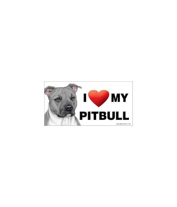 I (heart) my Pitbull (Gray) 4x8 Car Magn