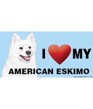 I (heart) my American Eskimo 4x8 Car Mag