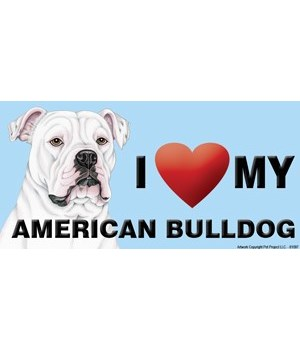 I (heart) my American Bulldog 4x8 Car Ma