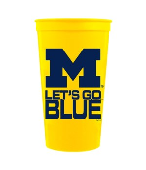 U of M Mug Stadium Yellow 32oz