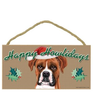 Boxer (uncropped ears) Howlidays 5x10