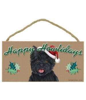 Cairn Terrier (black) Howlidays 5x10