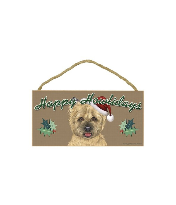 Cairn Terrier (tan) Howlidays 5x10