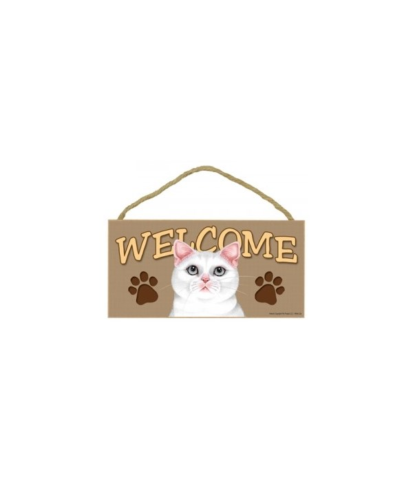 Welcome White Cat 5x10