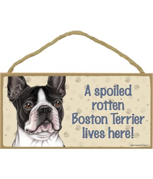 Boston Terrier Spoiled 5x10