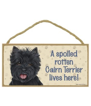 Cairn Terrier (black) Spoiled 5x10