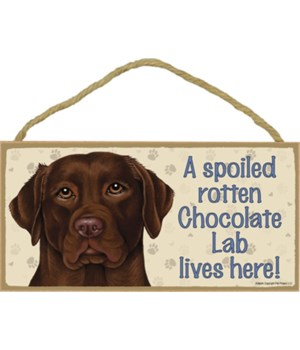 Chocolate Lab Spoiled 5x10