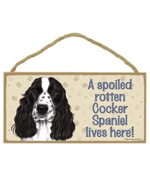 Cocker Spaniel (English, black & white)