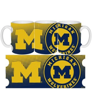 U of M Ceramic Grande Dot Pattern 15oz