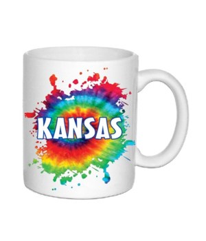 KS Mug Ceramic Tie Dye 11oz