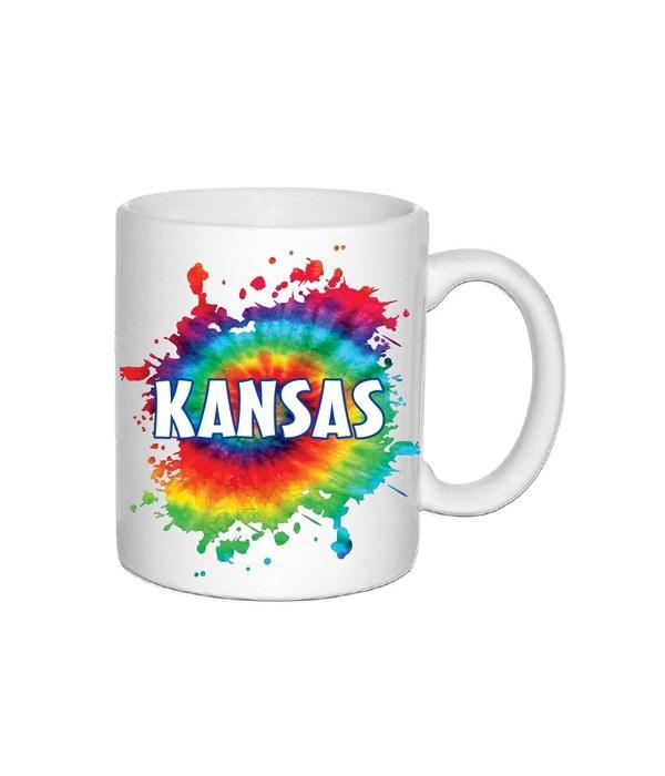 KS Mug Ceramic Tie Dye 11oz