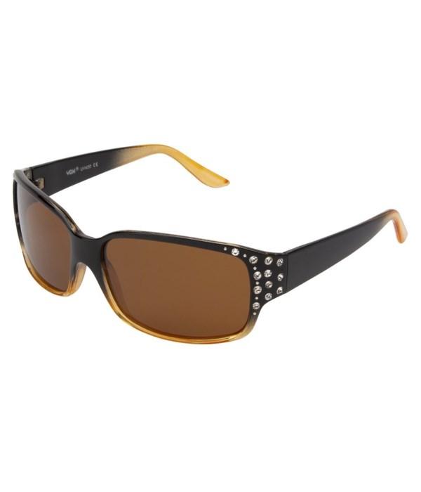 Women's Polarized Fashion Sunglasses w/ Rhinestones