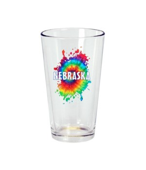 NE Drinkware Pint Glass Tie Dye