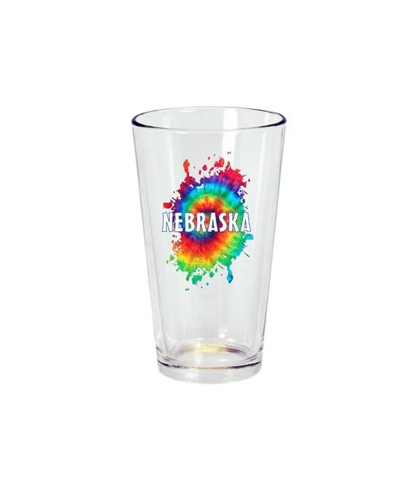 NE Drinkware Pint Glass Tie Dye