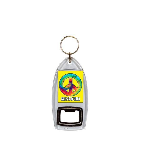 MO Keychain Bottle Opener Tie Dye