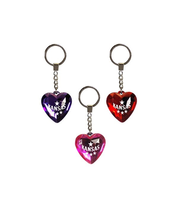 KS Keychain Heart Jewel 3/A