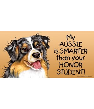 My Aussie (Australian Shepherd) is smart